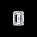 White Emerald Cut Loose Moissanite Stone