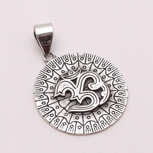 925 solid sterling silver om pendant at rs 420 piece 925 solid sterling silver om pendant aloadofball Images