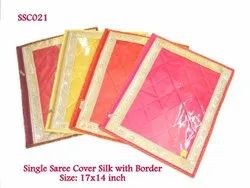 Single Saree Cover Silk With Border