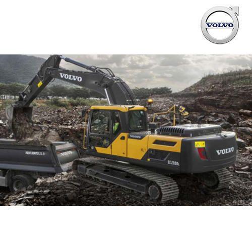 35 Degree Volvo Large Crawler EC210DL Excavators, Number Of Cylinder