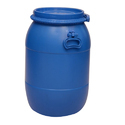 Blue Mitsu Chem 40 L Hdpe Full Open Top Drums