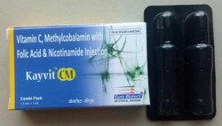 Kayvit-CM Vitamin-C, Methylcobalamin with Folic Acid and Niacinamide Injection