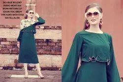 Rachna Bluebell Mode Silk Pattern Cut Kurti with Stole 6