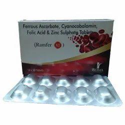 Ferrous Ascorbate equivalent to elemental Iron 100mg, Cholecalciferol (Vitamin D3) IP 1000 IU,