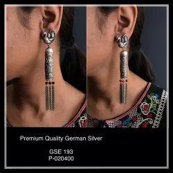 German Silver Earrings GSE 193