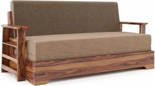 Urban Ladder Brown Double Engineered Wood Sofa Bed Warranty 2 Year