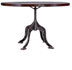 DIF-1418 Cast Iron Round Top Industrial Table