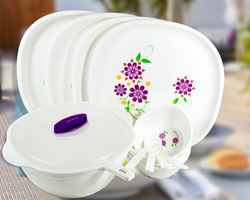Printed Plastic Dinner Set