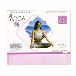 English Paper Yoga Theme Desk Calendar for Office