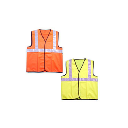 Polyester And Cotton Polyester Plain And Net Road Safety Jackets, Traffic Control And Auto Racing
