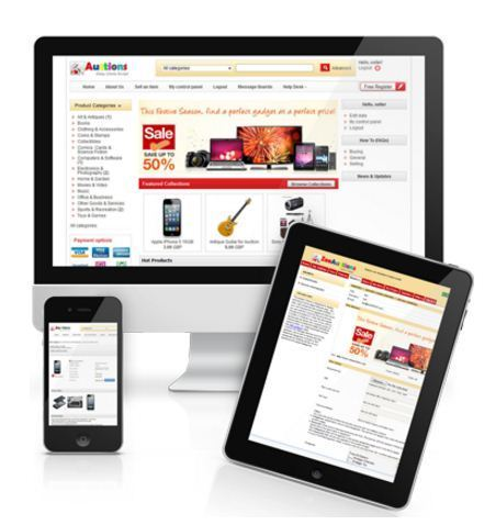 PHP Scripts - Zee Auctions Auctions Ready Made Website from