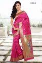 Pink Heavy Cotton Silk Sarees