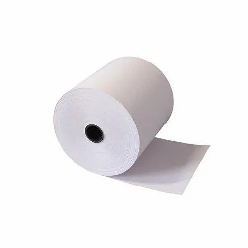 White Plain Thermal billing Printer Roll, GSM: 45 to 60 GSM