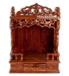 木制手工艺品庙,尺寸:24 × 12 × 36英寸