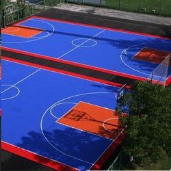 Synthetic acrylic Basketball Court 5 layer
