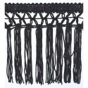 Black Pom Pom Fringe Laces