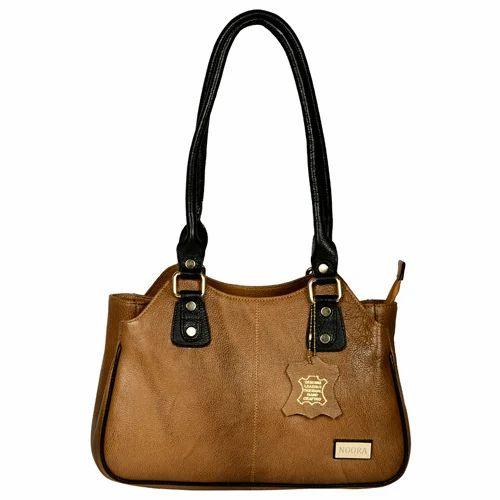 59a55adbaa Women s Light Brown Leather Handbag - Noora International