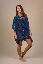 Silk Kaftan Digital Printed