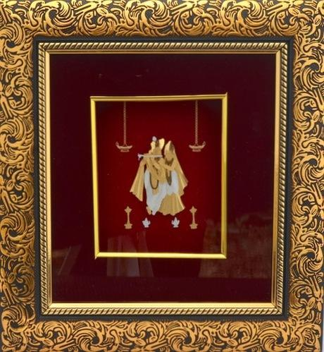 Brown Rectangular Gold Plated Radha Krishna God Frame Id 19158746330