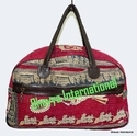 Vintage Cotton Kantha Bowling Bag