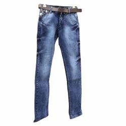 Boys Regular Fit Sky Blue Jeans, Size: 32 to 40