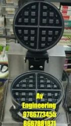 Silver Rotating Waffle Machine For Commercial