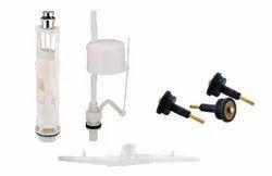 White Molex-NO-40 Dual Flush fitting