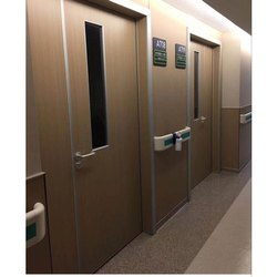 Brown Hinged HDF Panel Door, For Hospital, Size/Dimension: 6 X 3.5 Feet