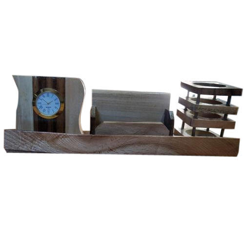 office pen holder. Brown Designer Office Wooden Pen Holder, Size: 10 Inch Holder N