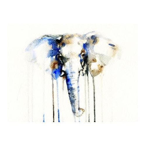 Elephant Wall Painting
