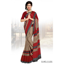 red coffy colour Silk Uniform Saree