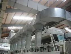 20 - 60 Degree C Stainless Steel Industrial Ducting Works, for Cooling, On Site