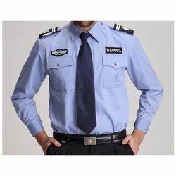 Cotton Blue Security Guard Uniform