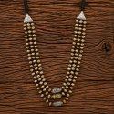 Brass Formal Wear Two Tone Indo Western Trendy Necklace 100150