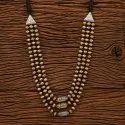 Brass Formal Wear Two Tone Indo Western Trendy Necklace 100150