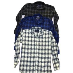Clothqne Cotton Spandex Mens Checks Shirts, Hand Wash and Machine Wash