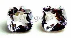 Pink Amethyst Faceted Cushion Pair Gemstone