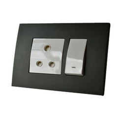 Black & White Plastic Modular Electrical Switch Board, For Electrical Industry, Ip 55