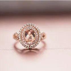 黄金(基地)现代钻石戒指