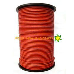 Nd Orange Round Leather Cord