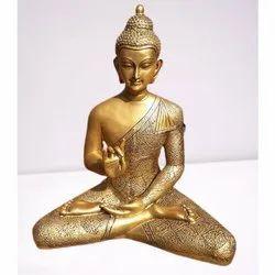 Golden Fiber Jaipurcrafts Buddha Statue, Size/Dimension: 24-32 Inch