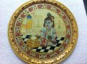 12 Inches Bal Gopal Miniature Painting On Plate