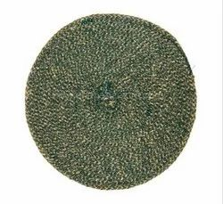 Green Round Cotton Table Placemats