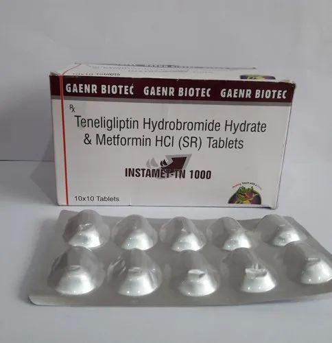 Metformin 1000 mg SR & Tenegliptin 20 mg)