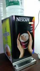 Double Option Tea Coffee Vending Machine Metal Door