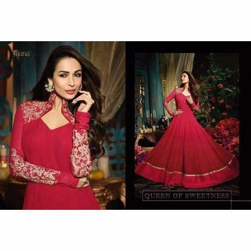 a3c8d3487b Maroon Party Wear Ladies Designer Anarkali Suit, Rs 1100 /piece   ID ...