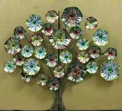 Flower Design Tree Wall Decor
