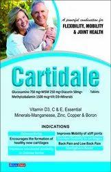 Glucosamine 750 mg MSM 250 mg Diacerin 50mg Methylcobalamin 1500 mcg Vit D3 Minerals