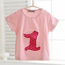 Pink Unisex Kids T- Shirt