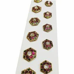 Kanak Kurta Diamond Button Jewellery